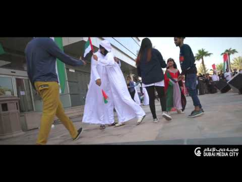UAE 45th National Day Flash Mob in Dubai Media City