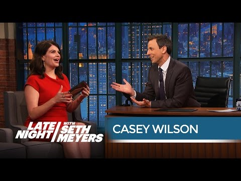 Casey Wilson's Dad Got a Perm to Look Like Andrew Jackson  Late Night with Seth Meyers