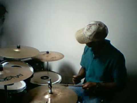 Eric Wilkerson churching on drums