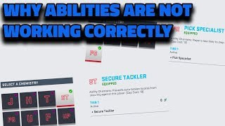 WHY ARE SOME ABILITIES NOT WORKING CORRECTLY | MADDEN 19 ULTIMATE TEAM