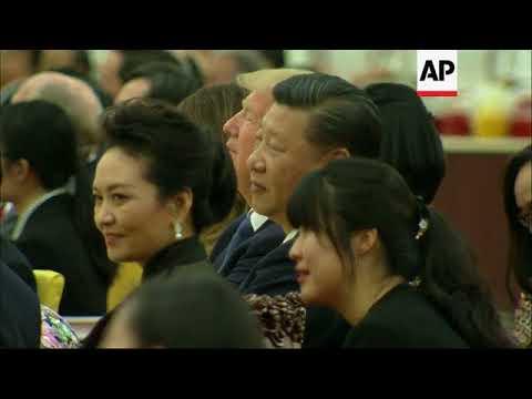 Video of Trump's granddaughter singing in Mandarin shown at banquet