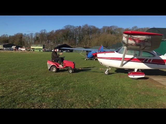 Lawn tractor aircraft tug
