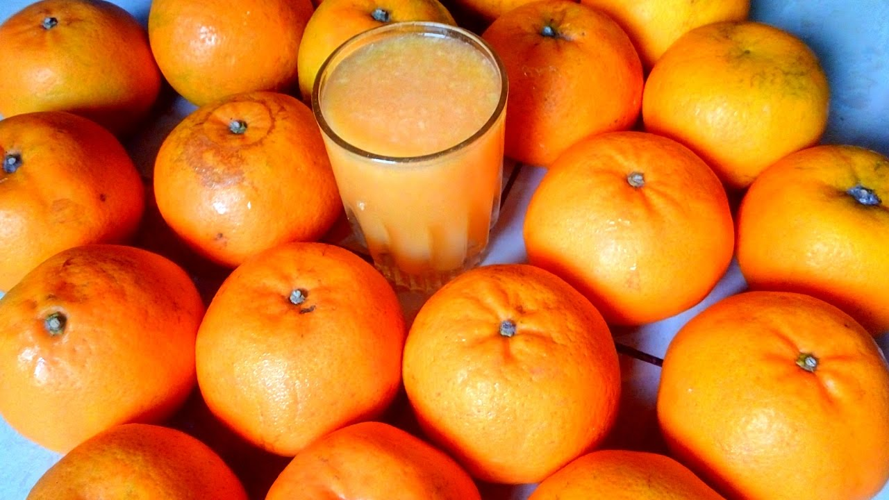 Quick  Easy Farm Fresh Orange Fruit Juice Making In 2 -8928
