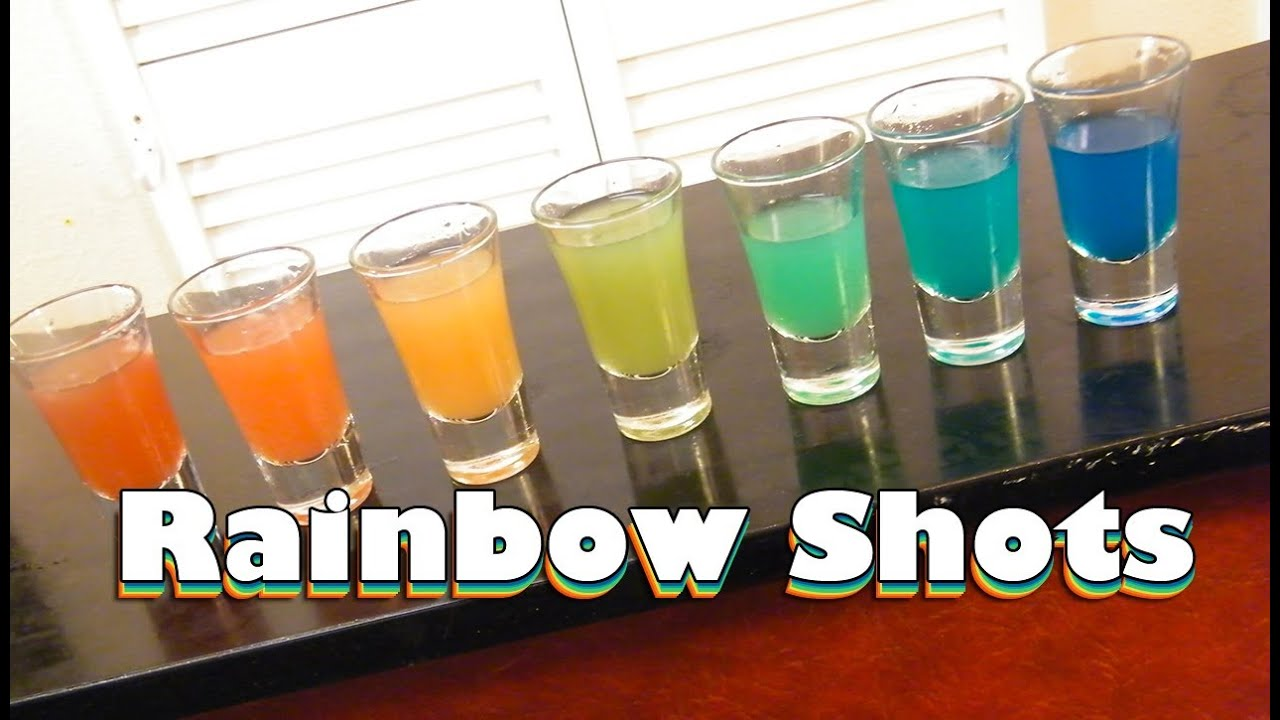How To Pour Rainbow Shots
