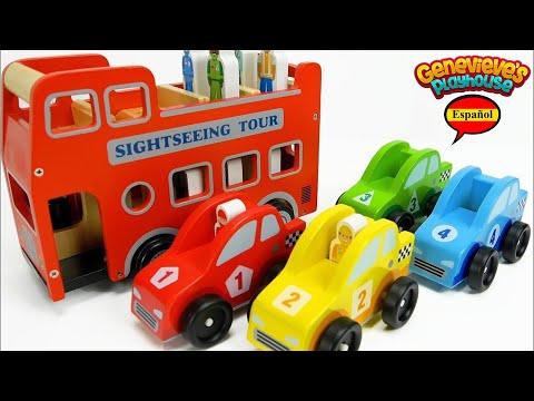 Aprende los Colores - Video Educativo para Niños - Vehículos Comunitarios!