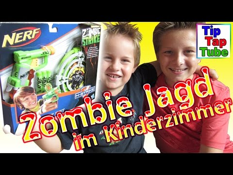 Nerf Pistole Zombie Strike Toys R us Hasbro Spielzeug auspacken spielen Kanal für Kinder Kinderkanal