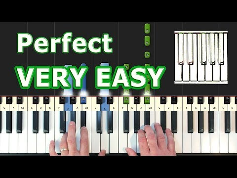Ed Sheeran - Perfect - VERY EASY Piano Tutorial - How To Play (Synthesia)