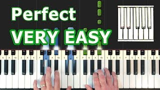 Download Lagu Ed Sheeran - Perfect - VERY EASY Piano Tutorial - How To Play (Synthesia) Mp3