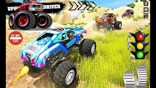 Monster Truck Desert Derby Driving Simulator - 4x4 Offroad Car Games - Android Gameplay Video