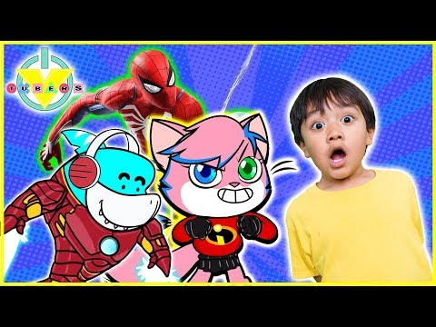 Best Superhero Lets Play Spiderman & Roblox with Ryan