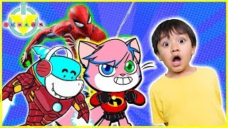 Best Superhero Let's Play Spiderman & Roblox with Ryan