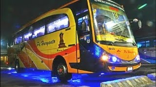 Haryanto Tattoo 505: The most beautiful & attractive bus in Indonesia [Colorful strobo light]