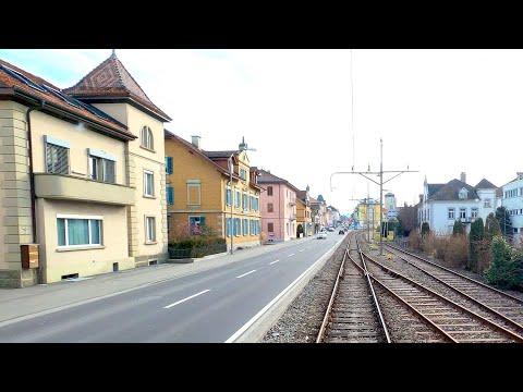 ★ 4K Lenzburg - Seetal - Luzern cab ride, Switzerland [02.2020]