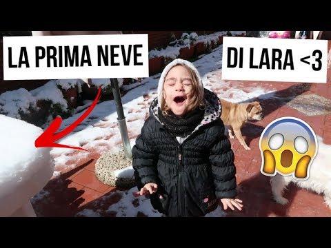 LA PRIMA VERA NEVE DI LARA / VLOG NEVE A ROMA