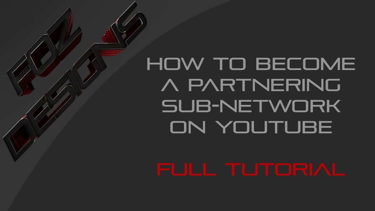 how to become a youtube network