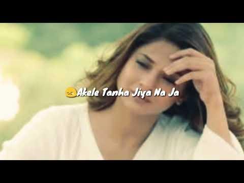WhatsApp status 30 Akele Tanha Jiya Na...