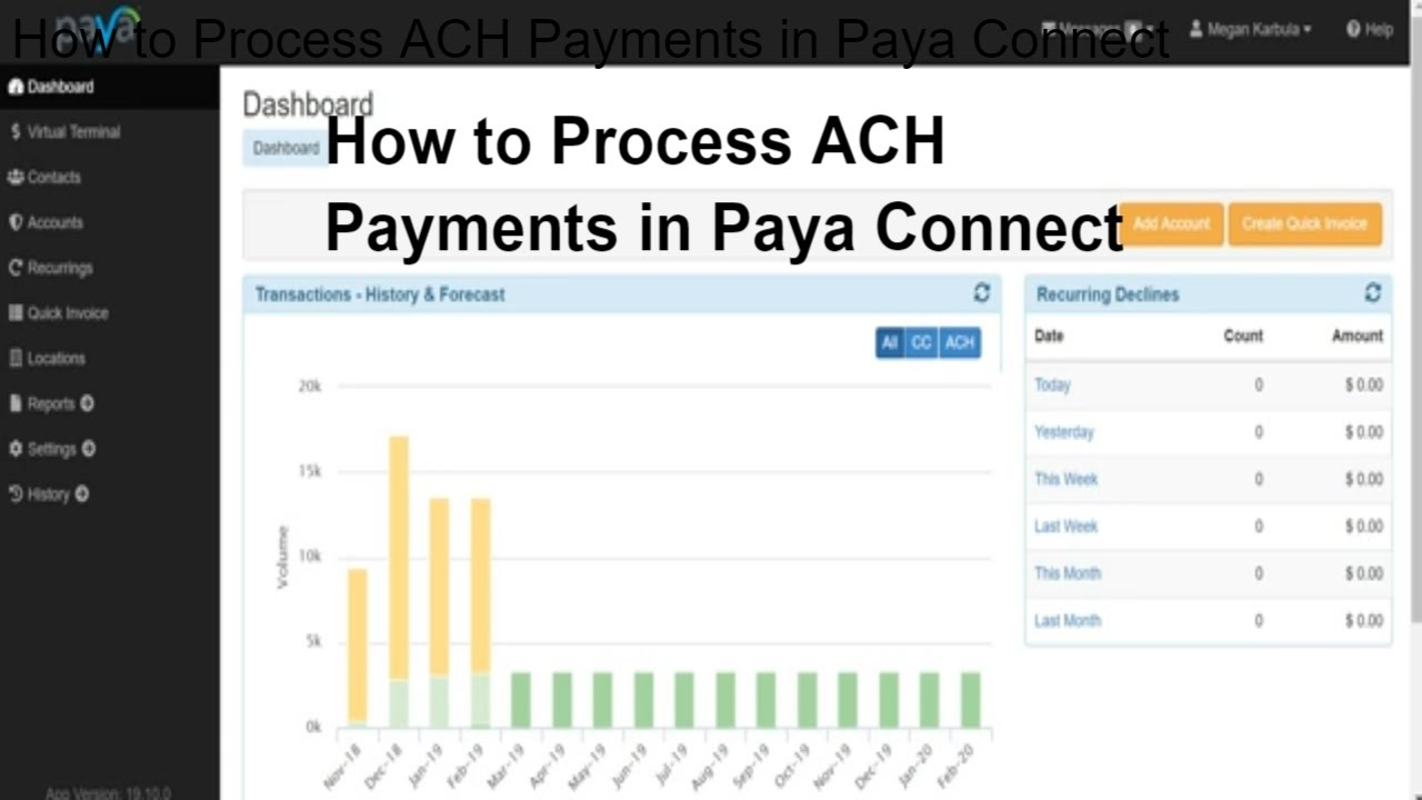 VIDEO: How to process an ACH payment in Paya Connect - Paya
