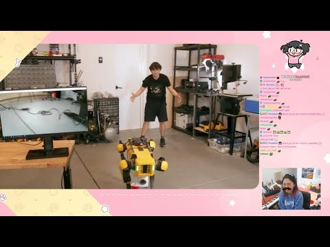 Lily Reacts To Teaching a Robot Dog to Pee Beer By Michael Reeves