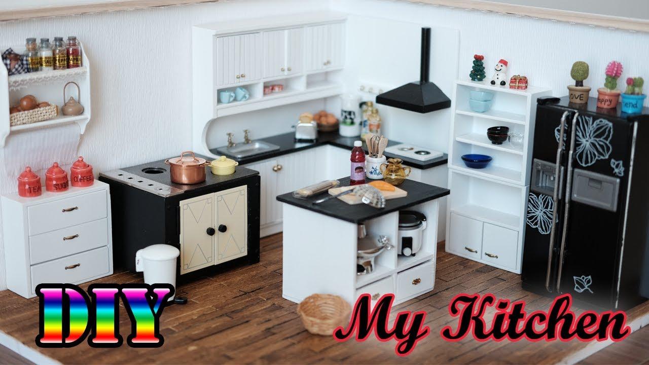 Diy Miniature Dollhouse My Kitchen Youtube