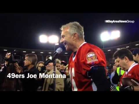 49ers Joe Montana thanks SF police and fire, and Eddie DeBartolo after  legendsofCandlestick ga