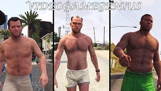 Michael Trevor and Franklin Knockouts! Grand Theft Auto 5 Let's Go!