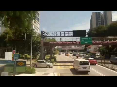 Singapore , traffic time lapse ride through beautiful small city