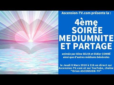 [BANDE ANNONCE] 4ème Soirée Médiumnité et Partage avec Aline SELVA et Didier COMBÉ