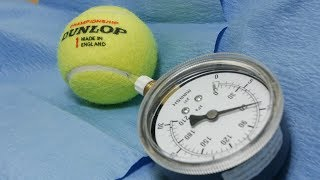 Bouncy sulfur hexafluoride gas in tennis balls?