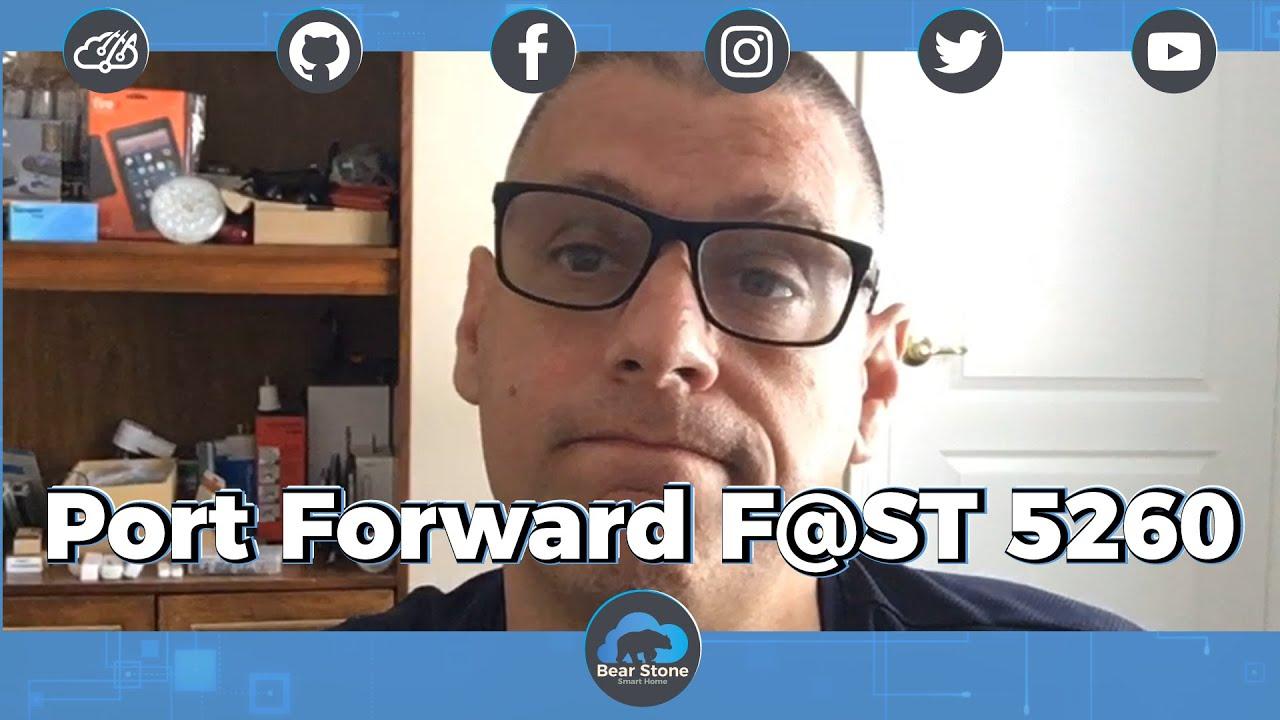 Setup Port Forwarding on Sagemcom Fast (F@ST) 5260 Modem/Router