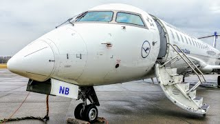 ✈TRIP REPORT | Lufthansa (Economy) | Friedrichshafen - Frankfurt | Bombardier CRJ900
