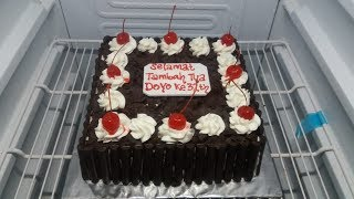 Download Video blackforest coklat pagar sederhana   how to make blackforest cake MP3 3GP MP4