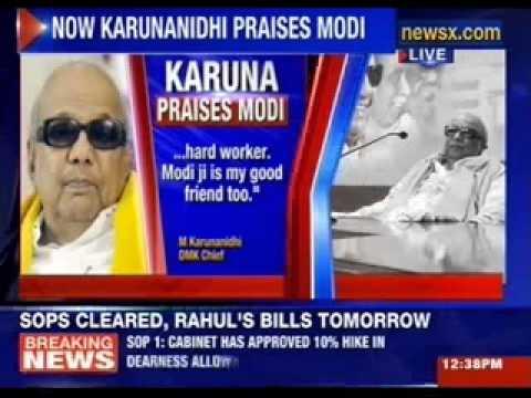 DMK chief M Karunanidhi praises Narendra Modi
