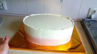 Как выровнять торт масляным кремом / How to smooth buttercream on a cake