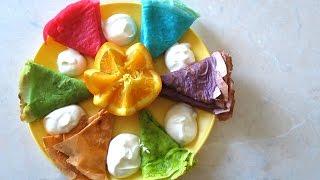*:・゚✧ Вкусные 🎈 разноцветные🎨 тонкие блины *:・゚✧ Рецепт тонких блинов с дырочками