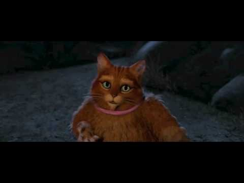 Puss Cute Face And Donkey In Shrek Forever After