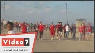 """بالفيديو.. جمهور الأهلى يتوافد على استاد برج العرب لمؤازرة فريقه أمام الوداد فى """" مهمة صعبة """""""