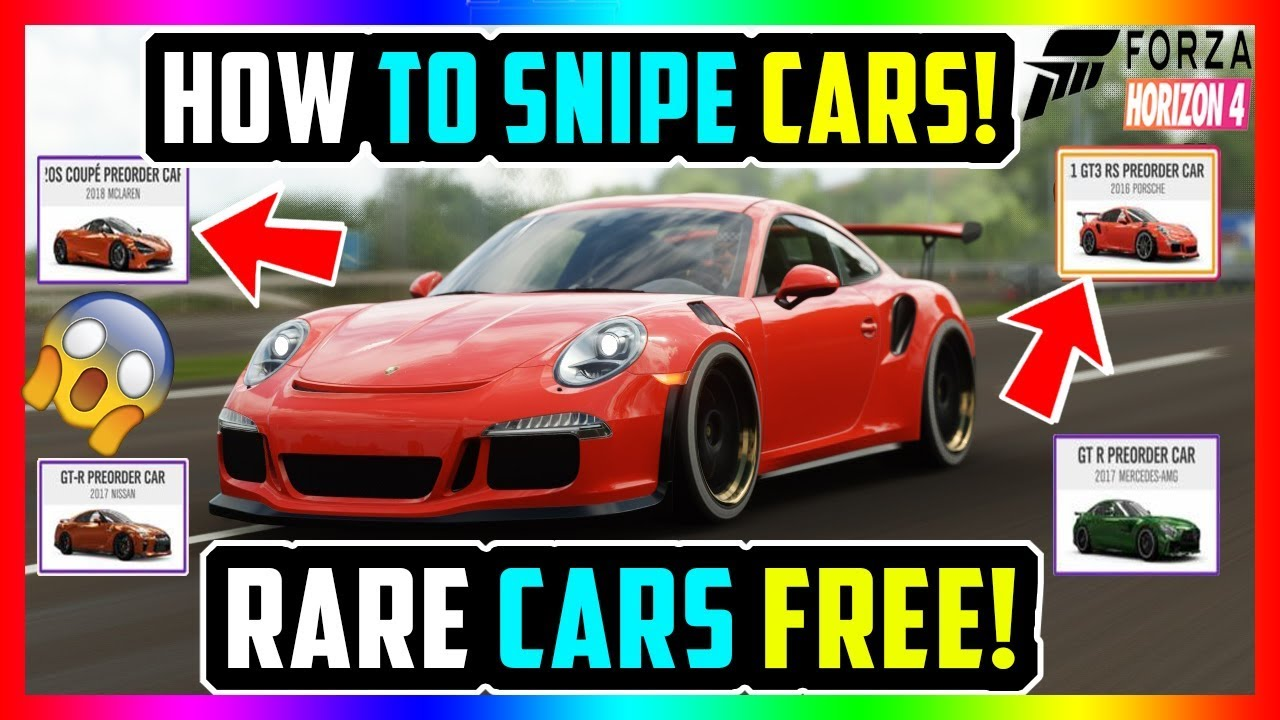 HOW TO SNIPE CARS IN FORZA HORIZON 4 ALL RARE CARS FREE! *NEW METHODS!*