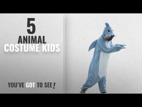 Top 10 Animal Costume Kids [2018]: Wotogold Animal Shark Pajamas Unisex Adult Cosplay Costumes