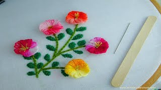 Sewing Hack with Ice Cream Stick| Hand Embroidery amazing Tricks #11|super easy embroidery trick