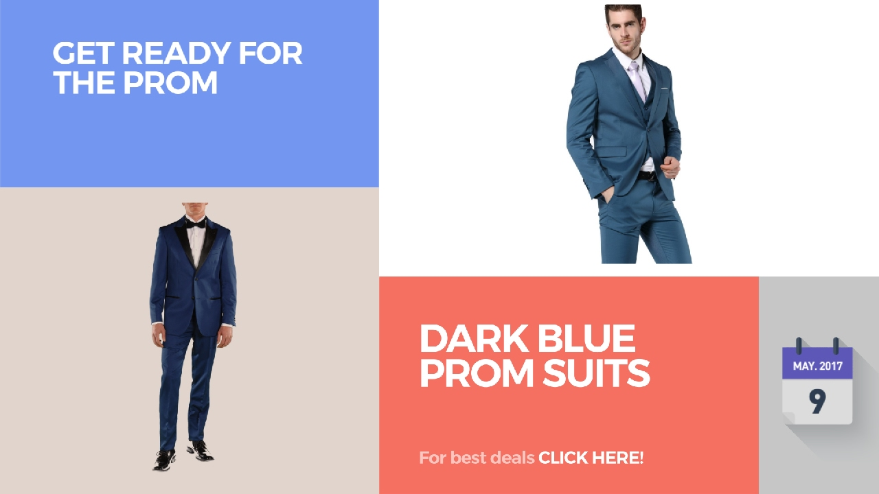 Dark Blue Prom Suits Get Ready For The Prom - YouTube