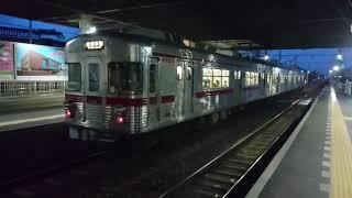 夕方の帰宅時間帯に運転されていた、中間車が有る貴重な長野電鉄3600系L2編成。