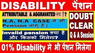 Disability pension and invalid pension for  NA-NA case| Know the details| Exserviceman India