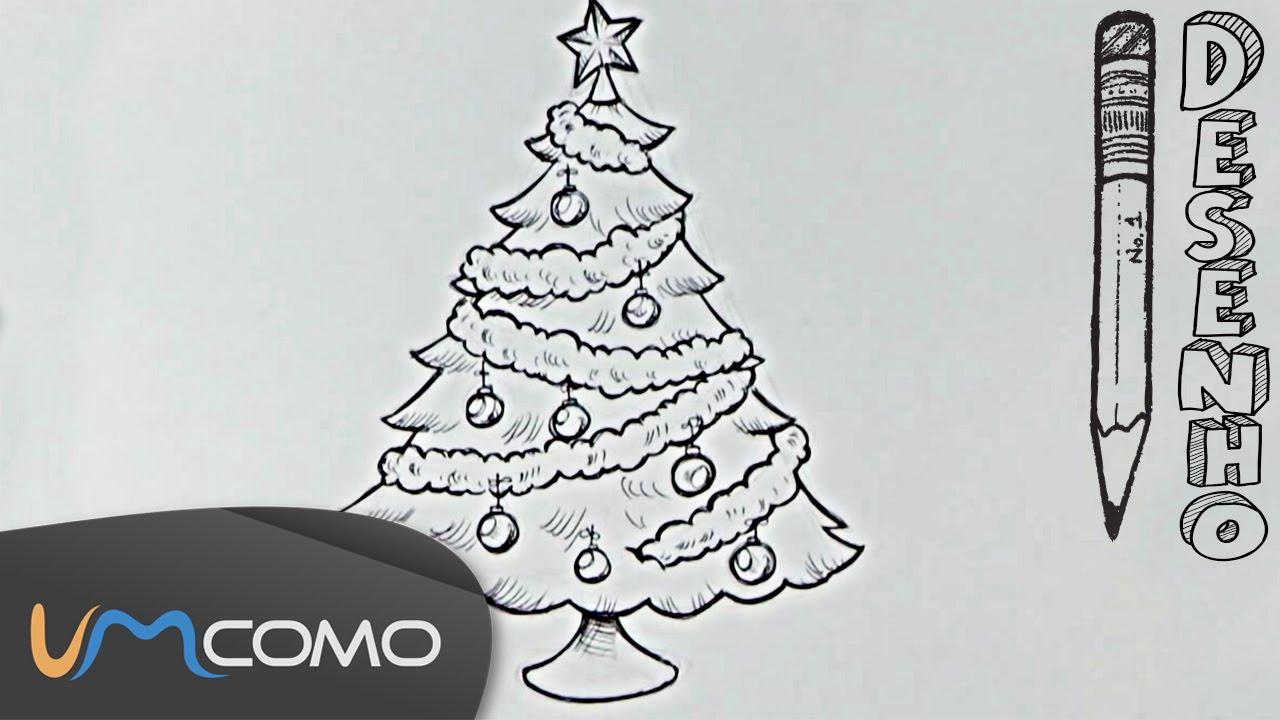 Desenhar Uma árvore De Natal Para Colorir Youtube