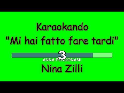 Karaoke Italiano - Mi hai fatto fare tardi - Nina Zilli ( Testo )