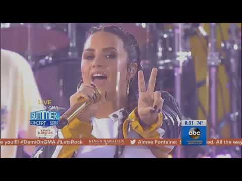 Demi Lovato & Jax Jones - Instruction (Live on Good Morning America) - August 18