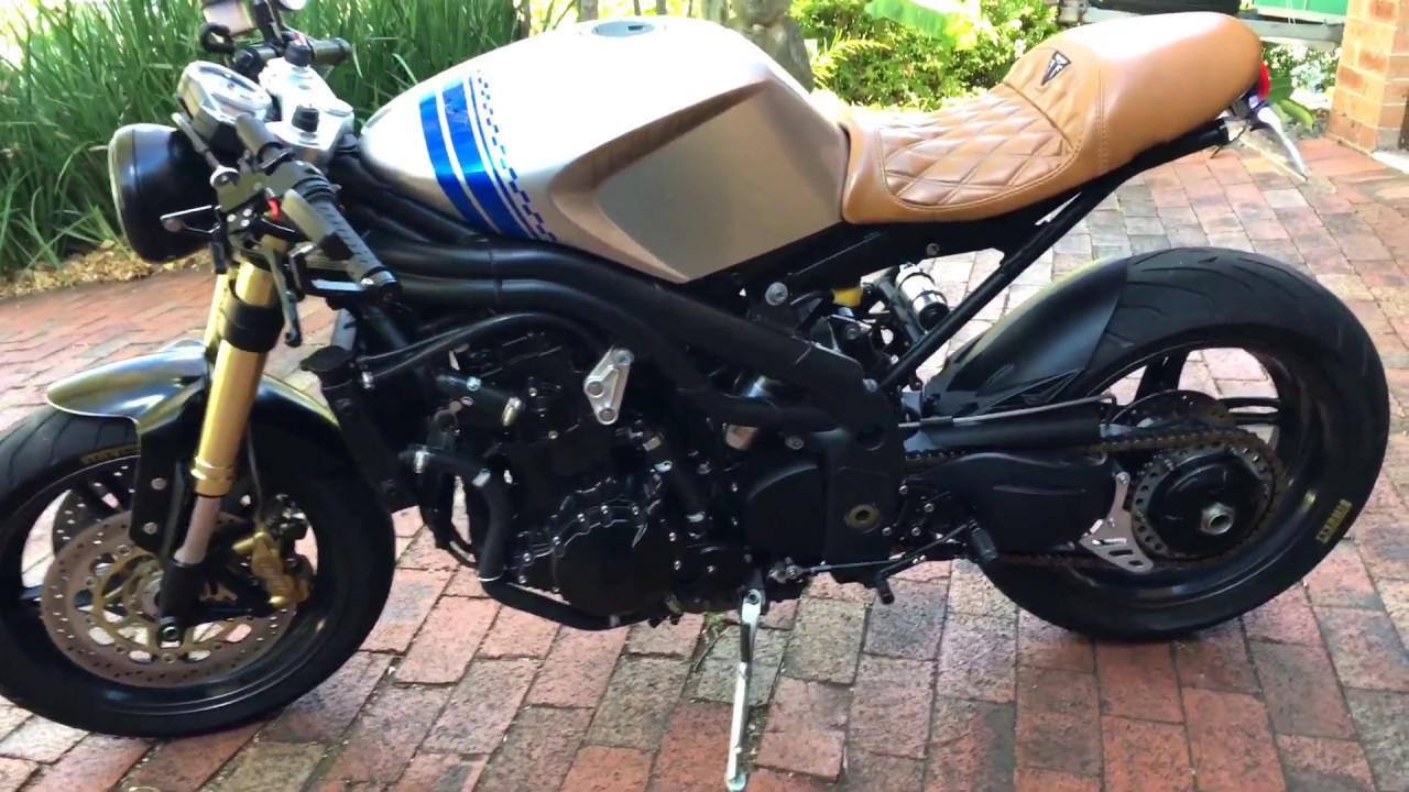 Triumph Speed Triple 1050 Cafe Racer Project Youtube