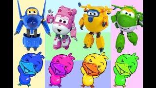 SuperWings & Poli toys Learn colors [출동 슈퍼윙스Super Wings] 비행기 장난감 와 로보카 폴리 미니특공대 장난감  変身飛行機のおもちゃ