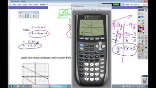 How to Solve Systems of Linear Equations, f(x), STO, R Coefficient, Graphing Linear Inequalities