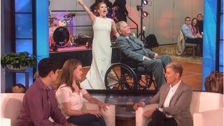 Ellen DeGeneres' touching surprise for viral bride who danced with her terminally ill father in w...