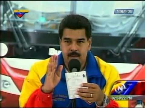 Nicolás Maduro sobre la Stevia (endulzante natural)